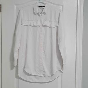 Zara long sleeve button down shirt